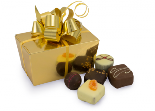 Gold chocolate gift box
