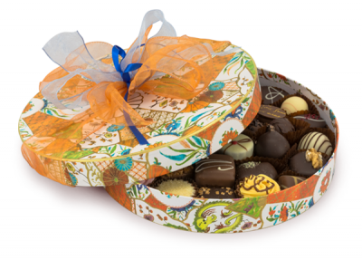 Luxury ribboned chocolate box - 500g