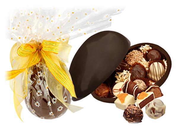 dark chocolate easter egg
